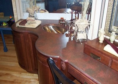 Stone bathroom counter tops