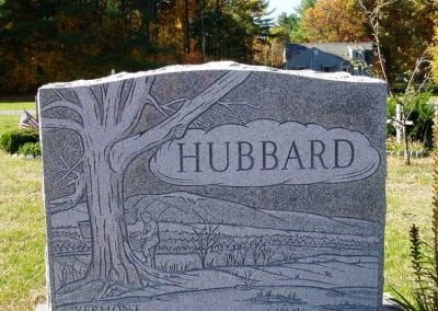 Etched Gravestone